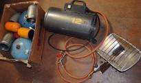 Gassvarmere bl. a. gasselektrisk Primus Contractor 12, brukt
