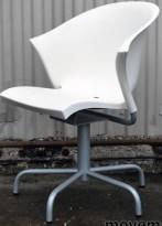 Parri Bla Bla Bla, stol i hvitt / grått, design av Marco Maran, pent brukt