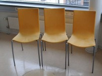 Kinnarps Citra besøksstoler i gult mikrofiberstoff, pent brukt