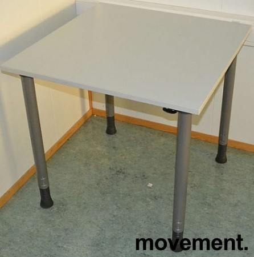 Kinnarps avlastningsbord 80x80cm igrått, pent brukt