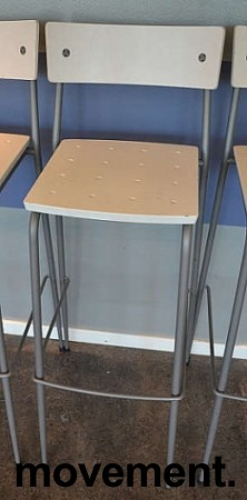 Moderne barkrakker / barstoler i grått/Hvitt, pent brukte bilde 1