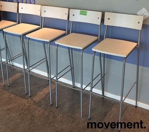 Moderne barkrakker / barstoler i grått/Hvitt, pent brukte bilde 3