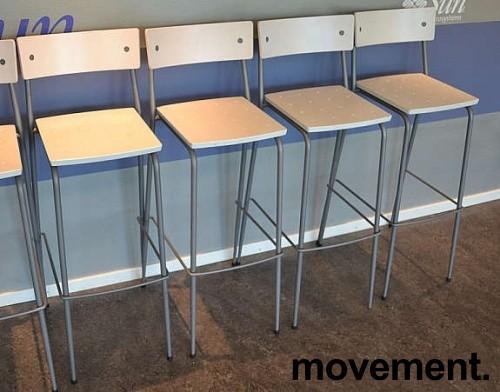 Moderne barkrakker / barstoler i grått/Hvitt, pent brukte bilde 2