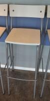 Moderne barkrakker / barstoler i grått/Hvitt, pent brukte