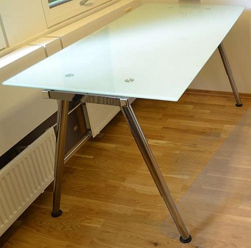 Ikea Galant Skrivebord I Glass 160x80cmpent Brukte