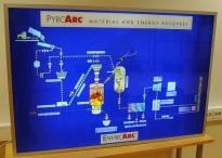 Reklameskilt / lyskasse med effekt 150x100cm, brukt