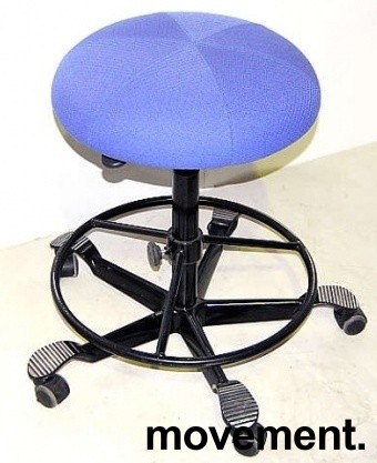 Ergonomisk kontorstol fra Håg i blått, pent brukt bilde 2