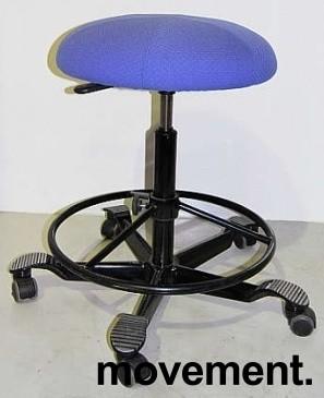 Ergonomisk kontorstol fra Håg i blått, pent brukt bilde 1