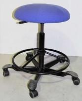 Ergonomisk kontorstol fra Håg i blått, pent brukt