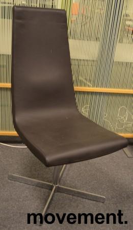 ForaForm Clint loungestol i brunt skinn / krom, pent brukt bilde 1