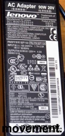 Lader 92P1107 til LENOVO bærbar PC - 90W, original Lenovo, Rund plugg, pent brukte bilde 4