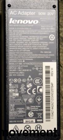 Lader 92P1107 til LENOVO bærbar PC - 90W, original Lenovo, Rund plugg, pent brukte bilde 5