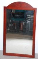 Veggspeil i mørkbeiset tre, pent brukt, 55x94cm
