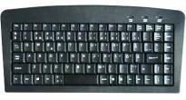 Minitastatur USB/ PS2 i sort farge til PC, kun 32,5cm bredde! NYTT