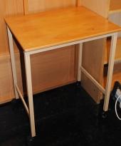 Printerbord i bøk på hjul 55x44cm, pent brukt
