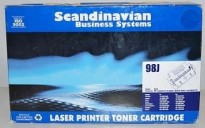 Sort laser toner for HP Laserjet 4/4+/5, Canon LPB1260 og Apple Laser Writer