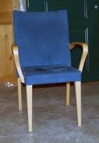 EFG konferansestol i blå alcantara, pent brukt