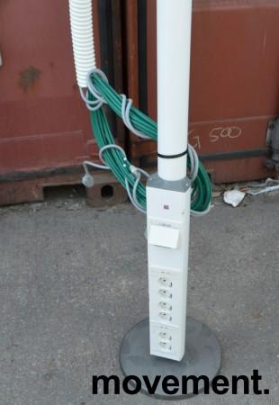 Thorsman Grenstaver for kontor med nettverk og strøm, pent brukte bilde 2