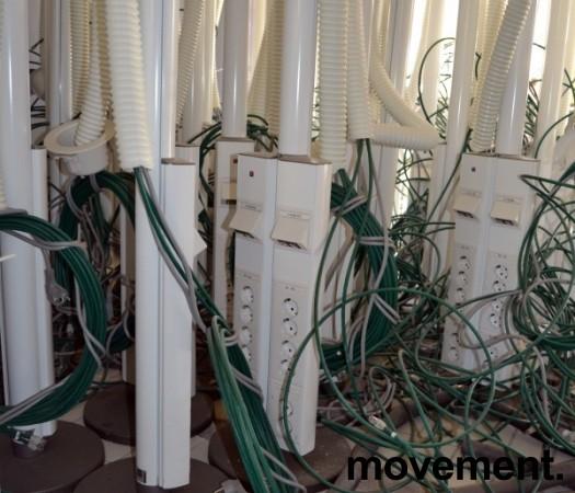 Thorsman Grenstaver for kontor med nettverk og strøm, pent brukte bilde 5