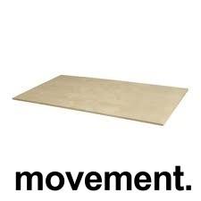 Bordplate til skrivebord i bjerkelaminat 120x60cm, NY - NEDSATT PRIS
