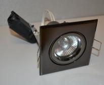 Downlights Tellus i sort krom fra SG, 4stk i sorteloksert metall, pent brukte