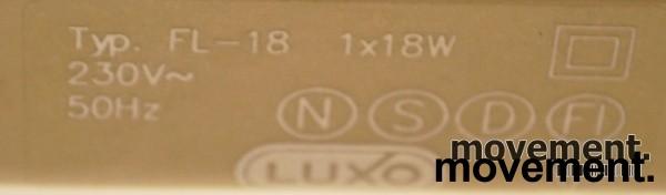 Luxo FL-18 skrivebordslampe i hvitt, pent brukt bilde 4