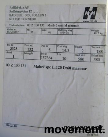 Marbré baderomsvask, helstøpt, 100,5cm bredde, NY bilde 2