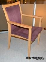 Konferansestol i bøk / lille stoff fra Helland, pent brukte