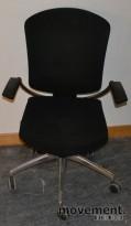 Kontorstol: Savo Maxikon 5 med armlener, sort, pent brukt