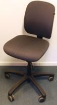 Savo EOS2L kontorstol i grått mønstret stoff, u/armlene, pent brukt