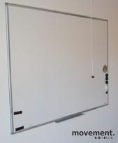 Whiteboard, vegghengt modell 100x120cm, pent brukte