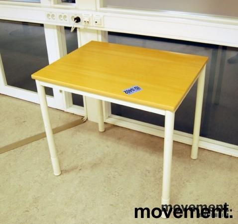 Kinnarps Origo avlastningsbord ibok hvitt, 80x60cm, pent brukt