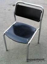 Stablestol i sort/krom fra Lammhults, brukte