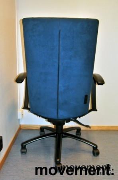 Kinnarps Kapton kontorstol i blå mikrofiber, pent brukt, KUPPVARE bilde 3