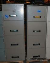 Dapi brannsikkert arkivskap for hengemapper, 4skuffers, 51,5cm bredde,pent brukt