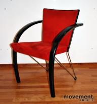 ForaForm Collage møteromsstol i sort / krom med rød mikrofiber, pent brukt