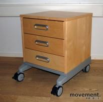 IKEA Effektiv skuffeskjon på hjul, 3 skuffer, bjerk / grått, pent brukt