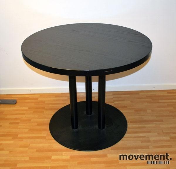 ForaForm sort rundt bord kaffebord, u00d8=90 cm, H 72,5 cm, pent brukt