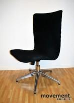 Offecct Swoop loungestol / svingstol i sort / krom, pent brukt