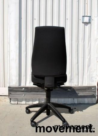 Kinnarps Synchrone 8000 / FreeFloat 6000, høy med Y-trekk, nytrukket i sort, pent brukt bilde 4
