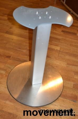 Understell til møtebord, søylefot i sølvgrått, H=70,5cm, pent brukte bilde 1