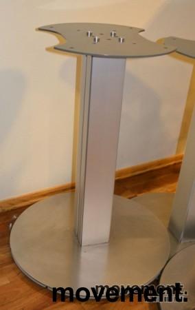 Understell til møtebord, søylefot i sølvgrått, H=70,5cm, pent brukte bilde 2