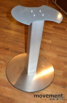 Understell til møtebord, søylefot i sølvgrått, H=70,5cm, pent brukte