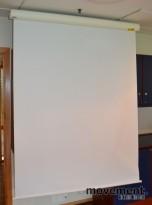 Nedtrekkslerret, Lerret fra Euroscreen, 160cm bredde, 200cm h, pent brukt
