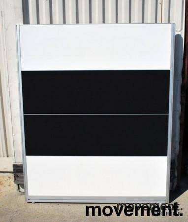 Skillevegger i sort / hvitt fra Kinnarps selges samlet, 145 cm høyde, pent brukt bilde 1