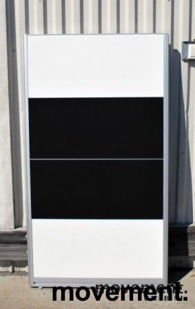 Skillevegger i sort / hvitt fra Kinnarps selges samlet, 145 cm høyde, pent brukt bilde 3
