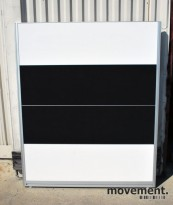 Skillevegger i sort / hvitt fra Kinnarps selges samlet, 145 cm høyde, pent brukt