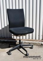 Vitra Axess Plus, A. Citterio, kontorstol i sort/beige, uten armlener,pent brukt