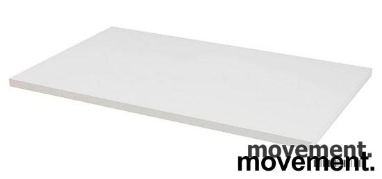 Hvit, rektangulær bordplate til skrivebord 160x80cm, NY/UBRUKT