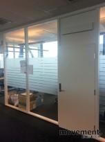Modulvegger for kontor i glass, 277,5 cm høyde, div bredder, pent brukte